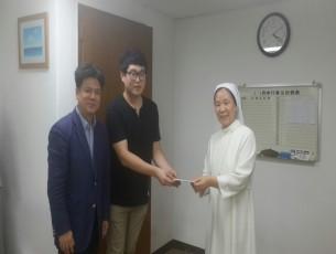 2016년 성가요양원,새소망의집 방문 하여 추석 성금 전달