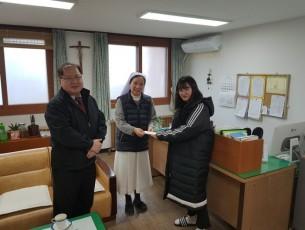 2018 성가요양원 방문 하여 설날 성금 전달